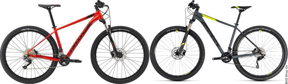 Cannondale Trail 3 VS Cube Attention SL